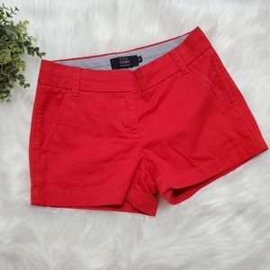 "J. Crew 3"" Chino Red Short"